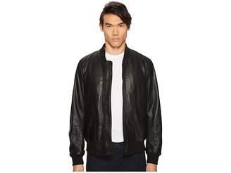 Paul Smith Leather Bomber Jacket Men's Coat
