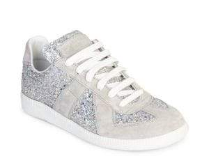 Maison Margiela Glitter Lace-Up Sneakers