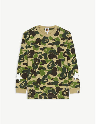 A Bathing Ape Cotton camouflage T-shirt 4-8 years