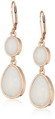 T Tahari Womens Marina Club Euro Wire Drop Earrings With Stones
