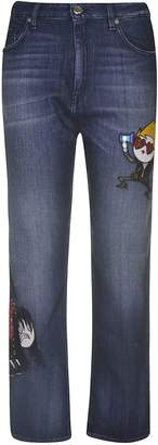Love Moschino Embroidered Detail Jeans