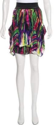 Alice + Olivia Silk Knee-Length Skirt