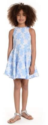 Pippa & Julie Daisy Applique Mesh Dress