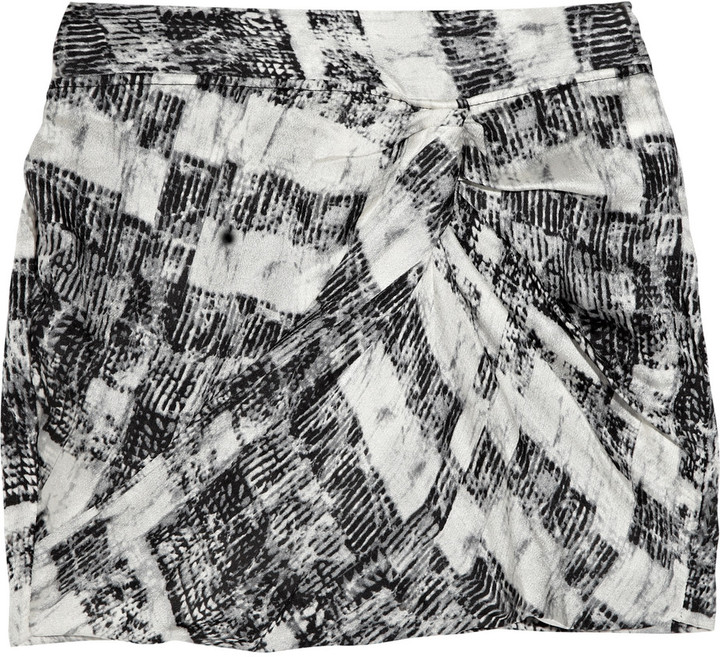 Edun Printed silk mini skirt