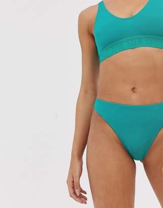 d86c55705c Weekday high leg bikini brief in turquoise
