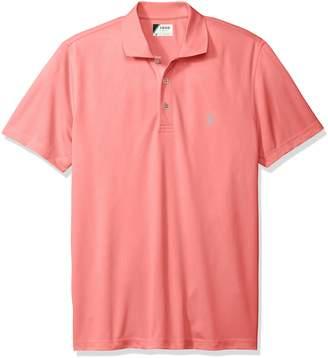Izod Men's Short Sleeve Champion Grid Polo Shirt