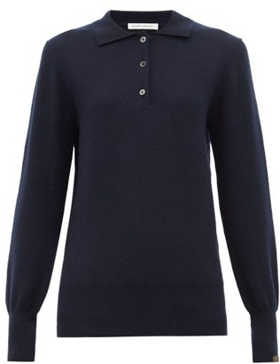 Extreme Cashmere - N121 Rugby Stretch Cashmere Polo Shirt - Womens - Navy