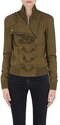 Saint Laurent Women's Cotton-Blend Military Bomber Jacket