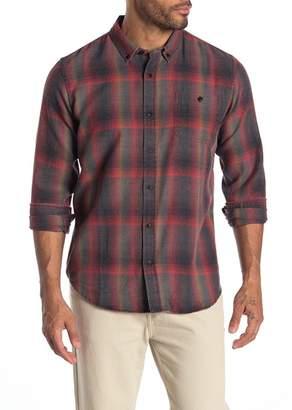 Ezekiel Gilded Front Button Plaid Print Woven Shirt