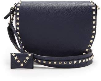 Valentino Rockstud Saddle leather shoulder bag