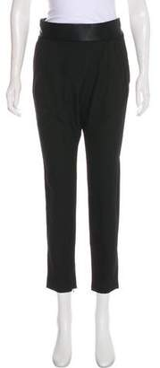 Givenchy Satin-Trimmed High-Rise Pants