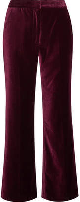 Stella McCartney - Velvet Flared Pants - Burgundy