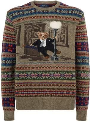 Polo Ralph Lauren Bear Singing In The Rain Sweater