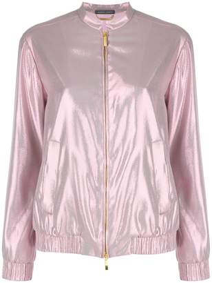 Alberta Ferretti metallic bomber jacket