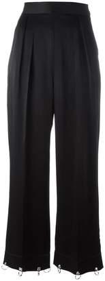 Christopher Kane wide leg ring detail trousers