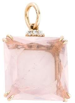H.Stern 18K Rose Quartz & Diamond Cobblestones Pendant