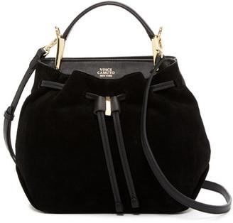 Vince Camuto Enzy Leather Drawstring Shoulder Bag $228 thestylecure.com