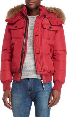 Mackage Real Fur Hooded Trim Down Jacket