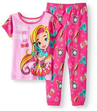 DAY Birger et Mikkelsen Sunny Toddler Girl Cotton Tight Fit Pajamas, 2pc Set