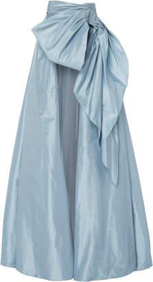 Marchesa Silk Taffeta A-Line Ballgown Overskirt