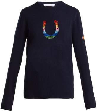 Bella Freud Horseshoe Rainbow Cashmere Blend Sweater - Womens - Navy