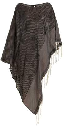 Su - Hilo Abstract Print Striped Cotton Kaftan - Womens - Grey Multi