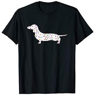I Love My Wiener Dachshund Dog Paw Print Pattern T-shirt