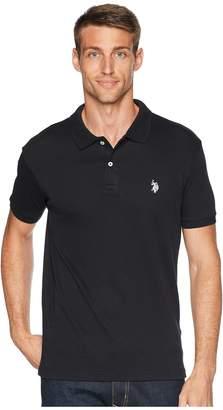 U.S. Polo Assn. Slim Fit Interlock Solid Polo Shirt Men's Short Sleeve Pullover