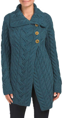 Made In Ireland Merino Wool 3 Button Cardigan