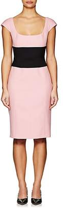 Narciso Rodriguez WOMEN'S WOOL GABARDINE BELTED DRESS - PINK SIZE 38 IT