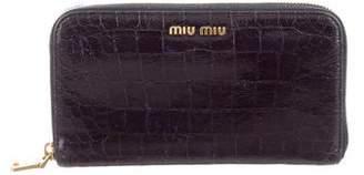Miu Miu Embossed Leather Wallet