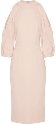 Cushnie et Ochs - Gina Cutout Stretch-ponte Midi Dress - Pastel pink $1,595 thestylecure.com