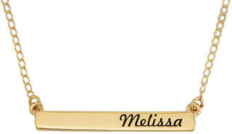 JCPenney FINE JEWELRY Personalized 14K Yellow Gold Engraved Name Bar Necklace
