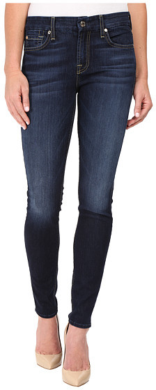 7 For All Mankind 7 For All Mankind The Skinny w/ Tonal Navy Squiggle in Dark Canterbury