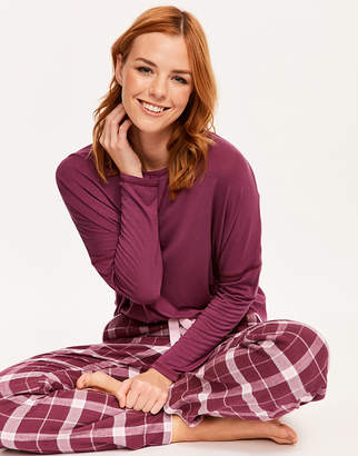 Cyberjammies Fiona Knit Top & Check Pant