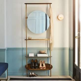 west elm Modern Entryway Mirror + Coat Rack
