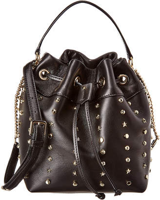 Jimmy Choo Juno Studded Leather Bucket Bag