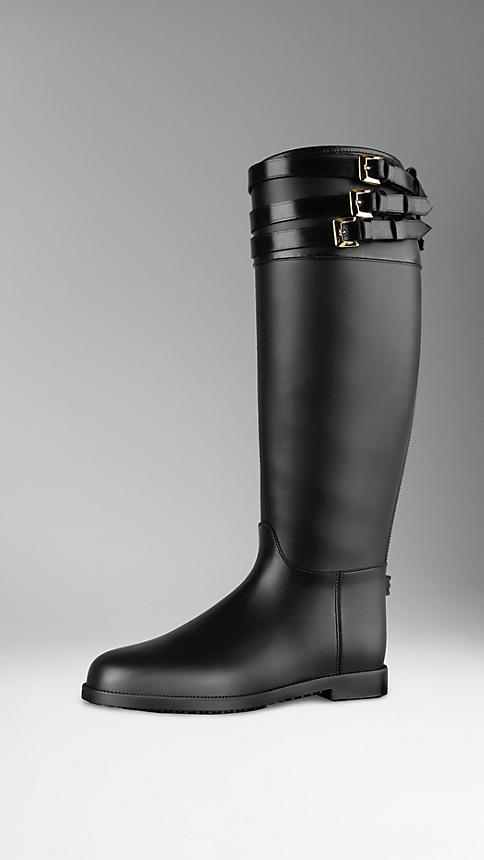 Burberry Belted Equestrian Rain Boots