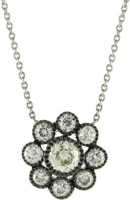 Couture Sethi Old Mine Diamond Cluster Pendant Necklace