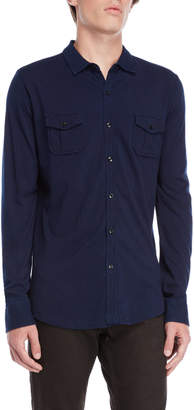 Dstrezzed Indigo Knit Button Shirt