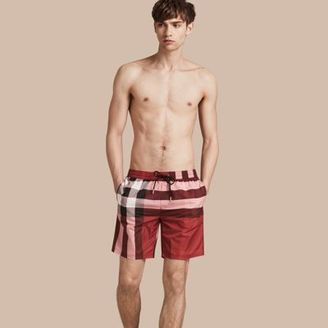 Burberry Check Swim Shorts $295 thestylecure.com