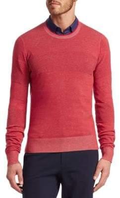 Saks Fifth Avenue MODERN Ribbed Crewneck Cotton Sweater