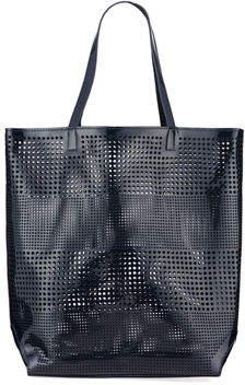 Neiman Marcus Perforated Tote/Beach Bag