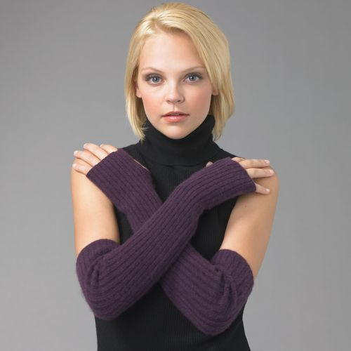 Portolano Ribbed Fingerless Gloves