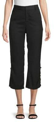 Lucca Couture Buttoned Cropped Trousers