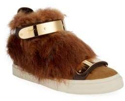 Giuseppe Zanotti Beaver Fur High-Top Sneakers