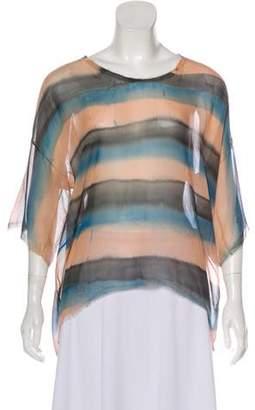 Raquel Allegra Dip-Dye Short Sleeve Top