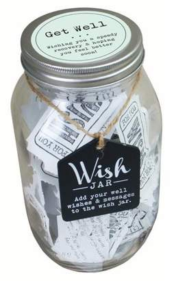 TOP SHELF Top Shelf Get Well Wish Jar ; Unique and Thoughtful Gifts for Friends and Family ; Kit Comes with 100 Tickets and Decorative Lid