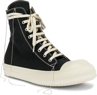 Rick Owens Hi-Top Sneakers in Black | FWRD