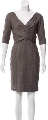 Alexander McQueen Tweed Wool Dress